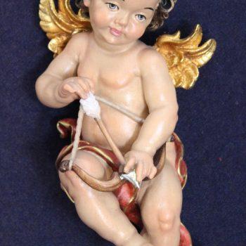 Angelo Cupido scolpito in legno