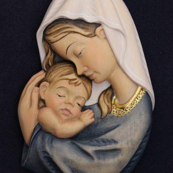 Scultura Madonna Ami variante blu