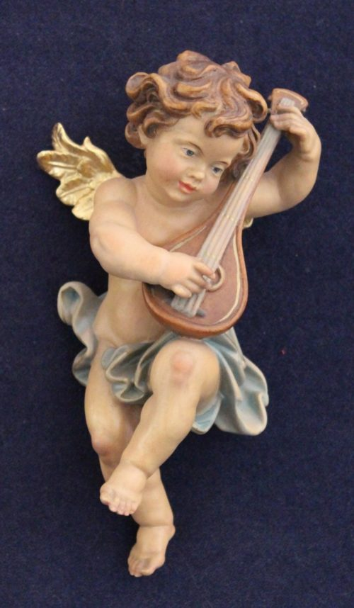 Scultura in legno angelo S.mandolino