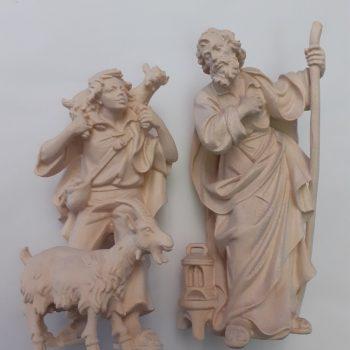 Statuina pastore con capra e capretto