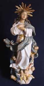 Scultura in legno Madonna Assunta