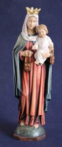 Scultura in legno Madonna del carmelo