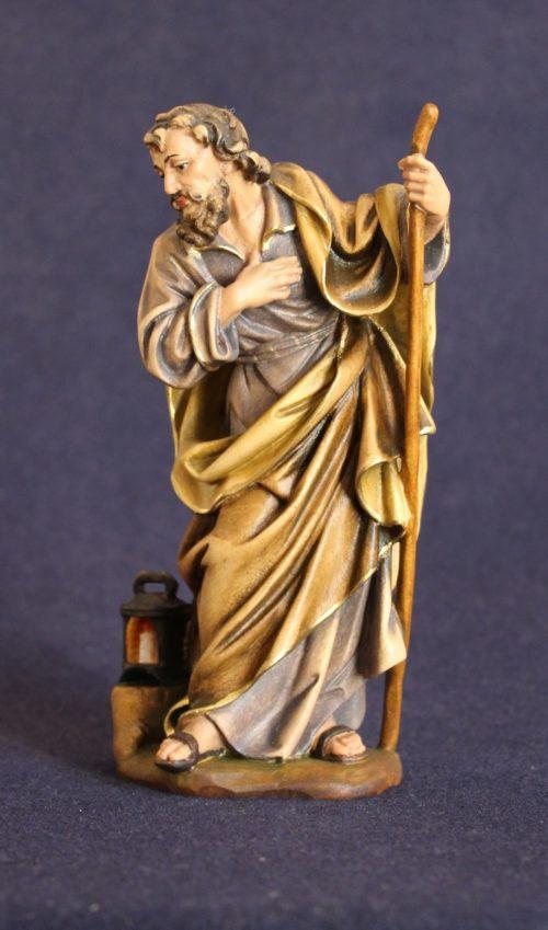 San Giuseppe scultura in legno per il presepe