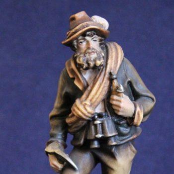 Scultura in legno l'alpinista vecchio