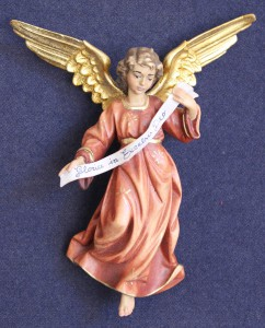 Statuina presepe angelo gloria