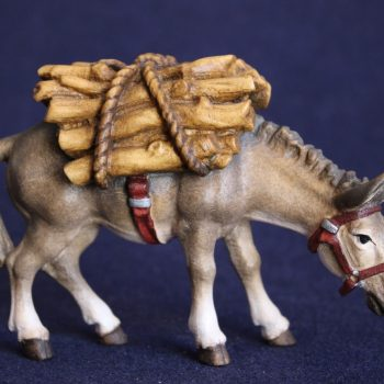 Donkey with wood