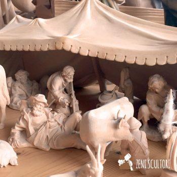 Tenda dei pastori per il presepe tradizionale