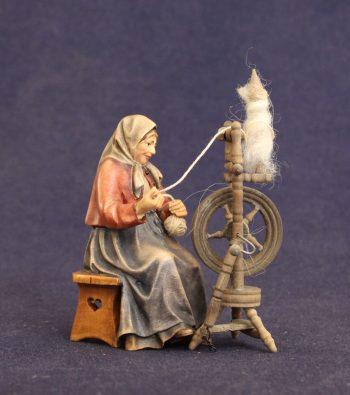 Statuina presepe donna che fila