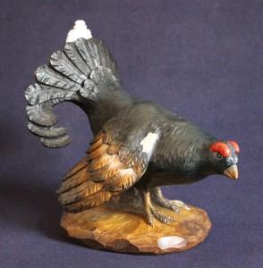 Scultura gallo forcello