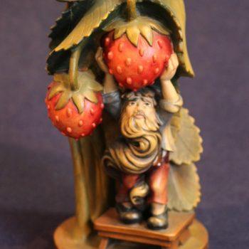 Scultura gnomo fragola