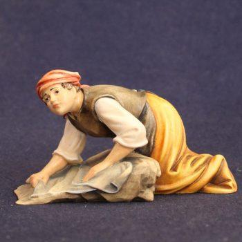 la lavandaia - Statuina presepe trazionale
