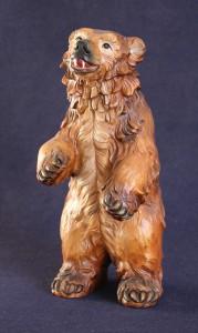 Scultura orso in legno di cirmolo o tiglio