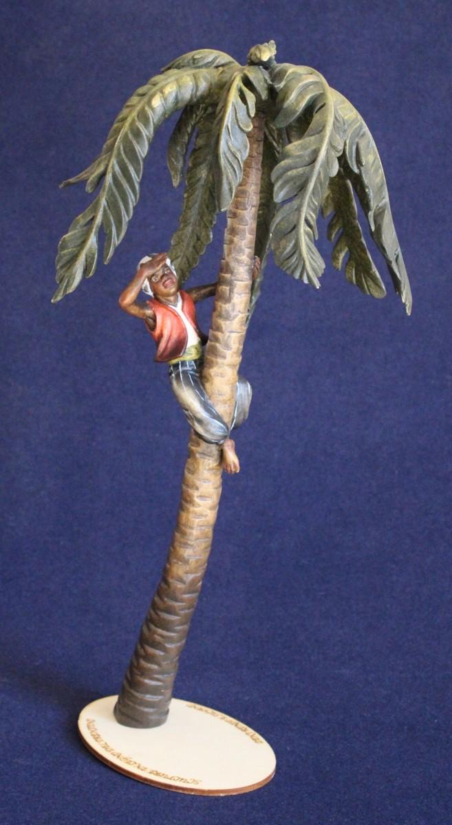 statuina palma con moretto per il presepe