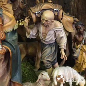 Statuina presepe tradizionale Pastore con baule