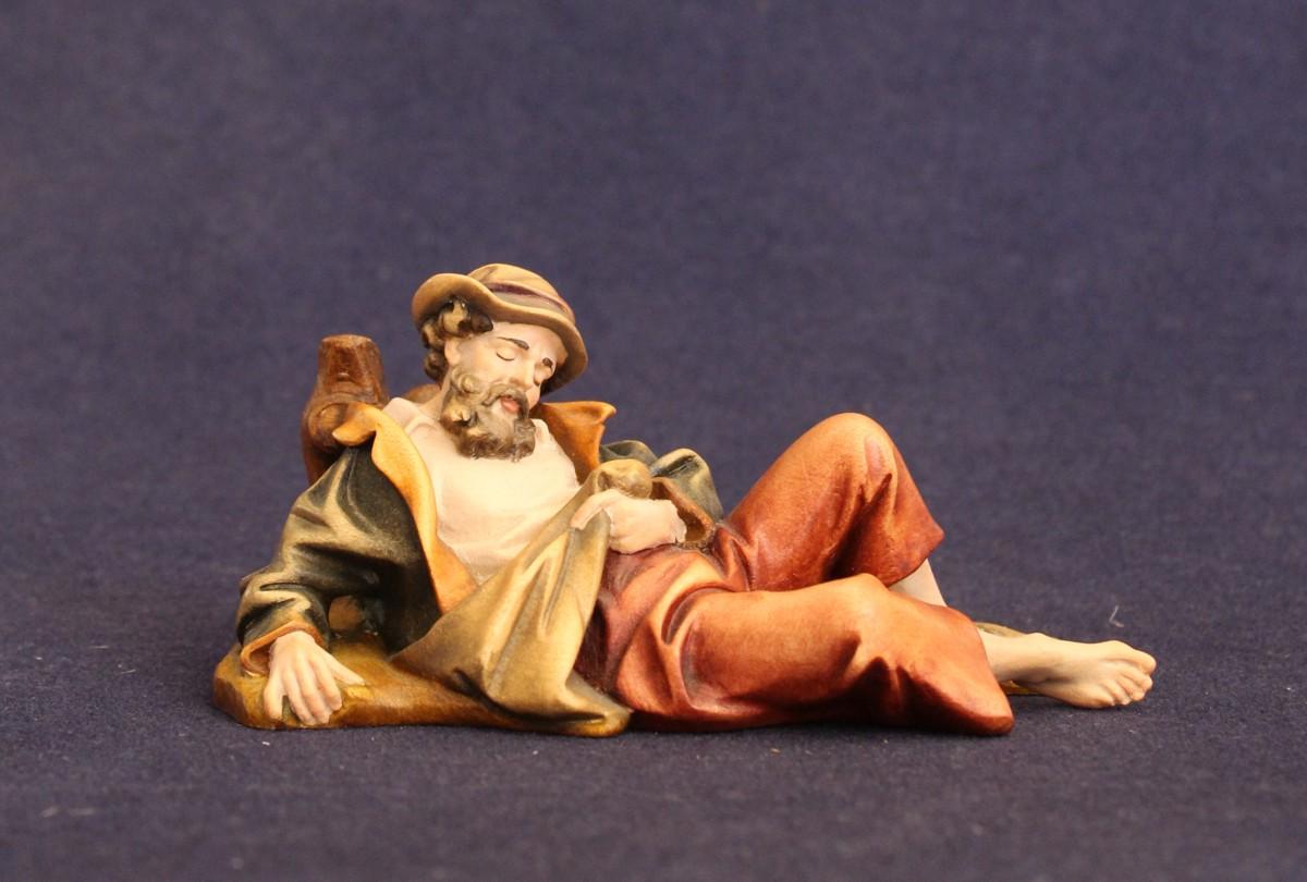 Statuina del presepe tradizionale dipinta con colori ad olio