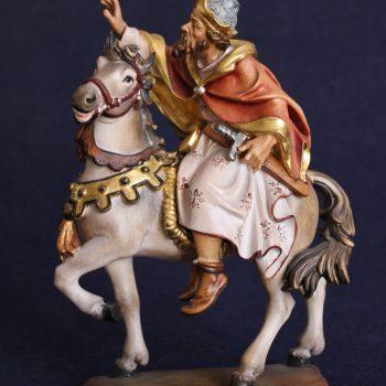 Statuina presepe re magio a cavallo