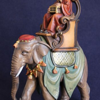 King on elephant statue for the nativity scene