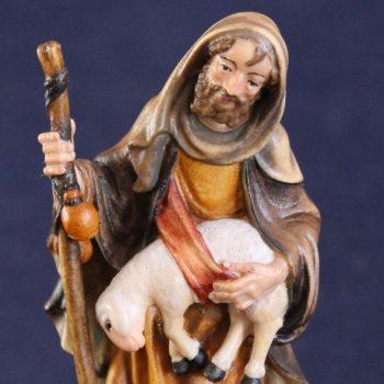 Statuina in legno Pastore di Betlemme - Variante dipinta