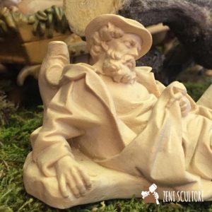 Statuina in legno versione naturale per il presepe tradizionale