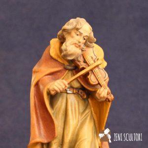 Statuina presepe tradizionale del violinista
