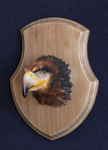 Scultura trofeo testa Aquila