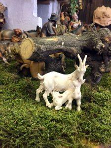 statuina presepe capra capretti