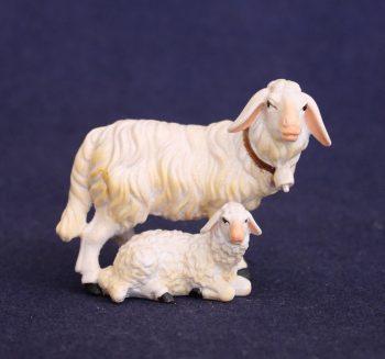 Sheep with lying lamb