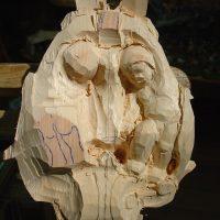 Abbozzo di una scultura in legno