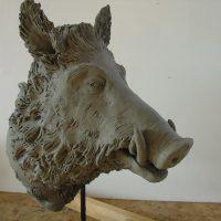 bozzetto scultura cinghiale