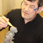 realizzazione del bozzetto in plastilina