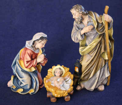 Family with baby Jesus attached