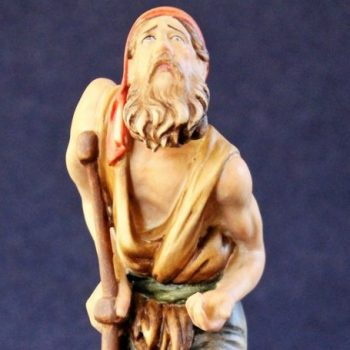 La statuina del presepe il mendicante storpio