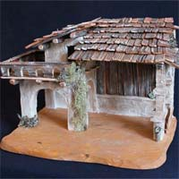 Nativity huts