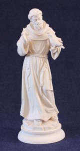 Saint Francis of Assisi statue in wood