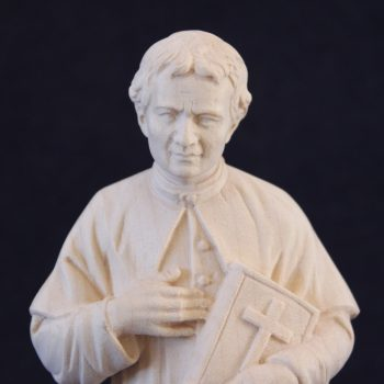 Saint John Bosco statue in wood