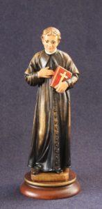 Saint John Bosco statue in wood