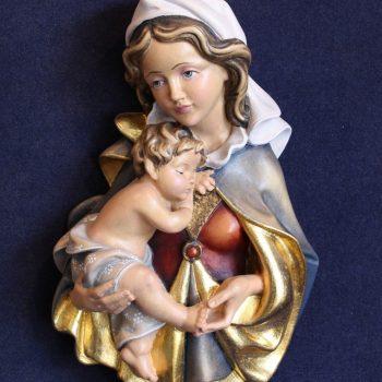Scultura Madonna Zeni variante colorata