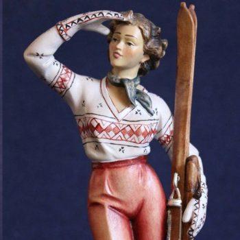 Scultura sciatrice anni 50