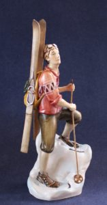 Ski Mountaineer wooden sculpture