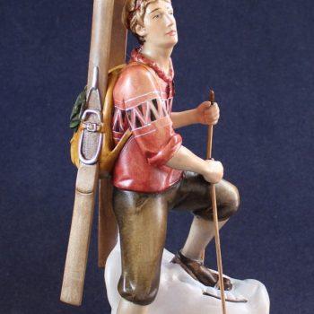 """Scultura in legno """"lo sciatore alpinista"""""""