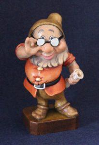Doc wooden sculpture - Seven Dwarfs collection