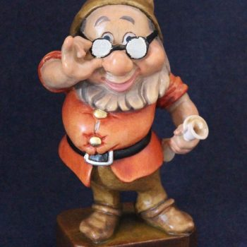 Doc wooden sculpture - Seven Dwarfs collection