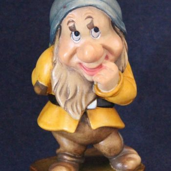 Bashful wooden sculpture - Seven Dwarfs collection