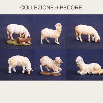 Collezione statuine presepe pecore