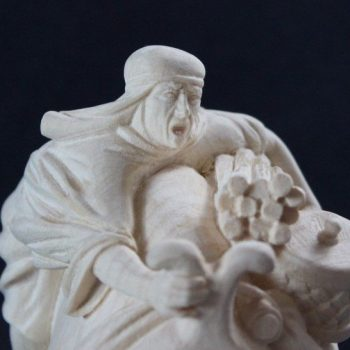 Statuina del presepe tradizionale mercante del deserto - Variante naturale