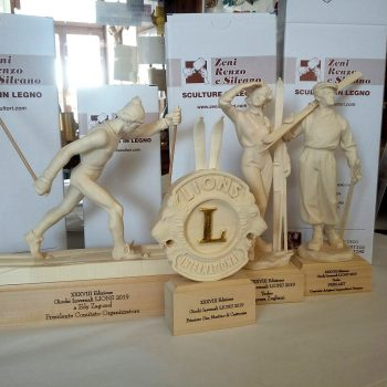 Wooden Lions Club customized trophies