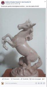 Scultura cavallo