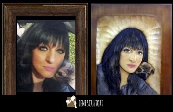 From the photo to the sculpture - portrait