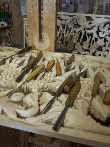 Paliotto d'altare in legno - Zeni scultori
