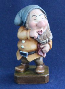 Sneezy wooden sculpture